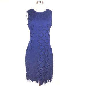 New DKNY sheath dress 8 purple circle lace party